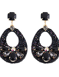 cheap -Women's AAA Cubic Zirconia Hoop Earrings Earrings Pear Cut Butterfly Artistic Cute Oversized Earrings Jewelry Black / Yellow / Pink For Party Gift Street 2pcs