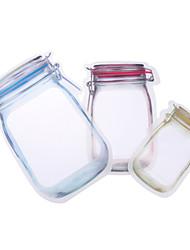 cheap -5pcs Reusable Snack Bag Mobile Hermetic Freezer Bags Ziplock Bags Kitchen Food Mason Bottle Travel Seal Pouch