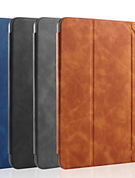 cheap -Case For Apple iPad Mini 4 / iPad Mini 5 Shockproof / Flip / Auto Sleep / Wake Up Full Body Cases Solid Colored PU Leather / TPU