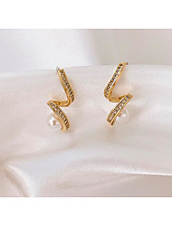 cheap -Women's Earrings Classic Love Classic Vintage Pearl Earrings Jewelry Gold For Gift Daily 1 Pair