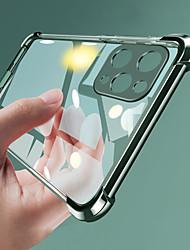 Недорогие -iphone11pro макс прозрачный четыре угла анти-капля гальваника чехол для мобильного телефона хз макс мелкие поры мягкий процесс покрытия тпу 7 8plus se 2020 защитный чехол