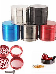 cheap -4layer Aluminum Herbal Herb Tobacco Grinder Smoke Grinders Grinders Smoking Pipe Container Accessorie