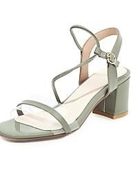 povoljno -Žene Sandale Ljeto Blok pete Otvoreno toe minimalizam Dnevno Kopča Jednobojni PU Obala / Zelen / Light Pink