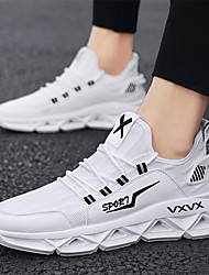 cheap -Men's Summer / Fall Classic / Casual / British Daily Outdoor Trainers / Athletic Shoes Walking Shoes Mesh Breathable Non-slipping Wear Proof White / Black / Gray