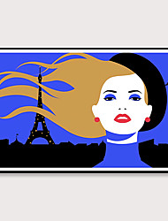 cheap -Framed Art Pop Cartoon Canvas Printing Modern Fashion Models PS Oil Painting  Wall Art Suitable for Living Room Decoration Ready To Hang 1 Piece