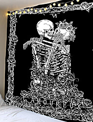 cheap -Mandala Skull Printed Wall Hanging Tapestry Yoga Mat Bedroom Decor Bohemia Beach Towel Tapestry Tablecloth