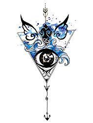 cheap -XQB41-60 1 Pcs Tattoo Designs Temporary Tattoos Full Arm Waterproof Tattoo Sticker Symbol Totem Animal Skull Text Tattoo Sticker