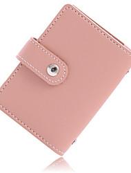 cheap -Women's Zipper PU Leather Wallet 2020 Solid Color Black