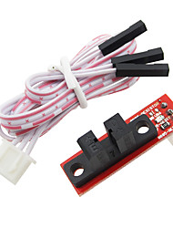 cheap -Red Optical Endstop Light Control Limit Switch For RAMPS 1.4 Board 3D Printers Parts with 3 Pin Cable Red Part Accessories