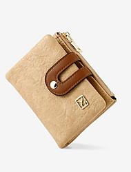 cheap -Women's Zipper PU Leather Wallet 2020 Black / Blue / Blushing Pink