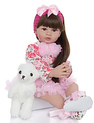 cheap -KEIUMI 24 inch Reborn Doll Baby & Toddler Toy Reborn Toddler Doll Baby Girl Gift Cute Lovely Parent-Child Interaction Tipped and Sealed Nails Half Silicone and Cloth Body 24D01-C172-S20-H70-T19 with