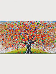 cheap -Hand Painted Canvas Oilpainting Abstract Tree by Knife Home Decoration with Frame Painting Ready to Hang With Stretched Frame