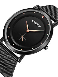 cheap -Men's Steel Band Watches Quartz Modern Style Stylish Casual Water Resistant / Waterproof Analog White+Silver Black / Stainless Steel