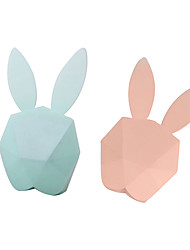cheap -Bunny Rabbit LED Light Alarm Clock Night Light Smart Induction Adorable with USB Port Touch USB 1pc
