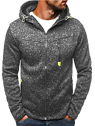 cheap -Men's Hoodie Solid Colored Daily Sports Basic Hoodies Sweatshirts  Black Red Light gray