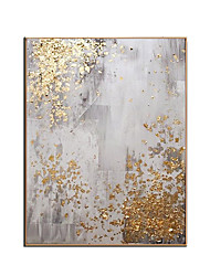 cheap -Pure Hand painted Modern gold canvas Oil Paintings wall painting Abstract gold Oil Painting art picture Living Room home Decoration Rolled Without Frame