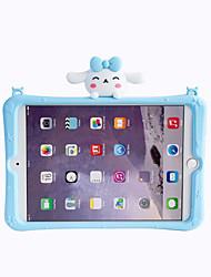 cheap -Case For Apple iPad Mini 1 2 3 iPad Mini 4 iPad Mini 5 with Stand Pattern Back Cover Dog Cartoon Silica Gel