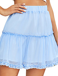 cheap -Women's Daily Wear Skirts Solid Colored Light Blue