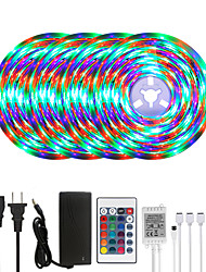 cheap -20M LED Strip Lights RGB Tiktok Lights Waterproof 1200LEDs Flexible Color Change 2835 with 24 Keys IR Remote Controller and 100-240V Adapter for Home Bedroom TV Back Lights DIY Deco