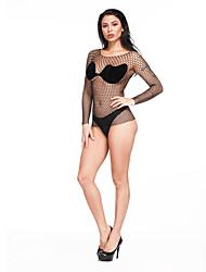 cheap -Women's Mesh Babydoll & Slips Nightwear Solid Colored White / Black / Purple One-Size