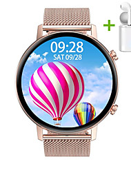 cheap -JSBP HDT96 Smart Watch 360*360 HD Screen BT Fitness Tracker Support Notify/Heart Rate Monitor Sport Stainless Steel Bluetooth Smartwatch Compatible IOS/Android Phones
