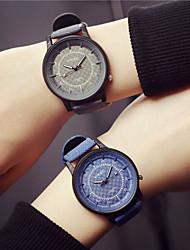 preiswerte -Damen Quartz Uhr Modisch Blau PU - Leder Chinesisch Quartz Blau Weiss + grau Grau Armbanduhren für den Alltag Analog Ein Jahr Batterielebensdauer