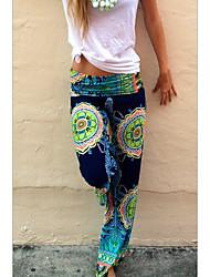cheap -Women's Basic Chinos Pants - Print Blushing Pink Orange Green S / M / L