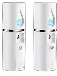 cheap -2pcs Portable Mini Nanometer Moisturizing Hydrating Facial Spray Air Humidifier USB 20ml Handheld Water Meter