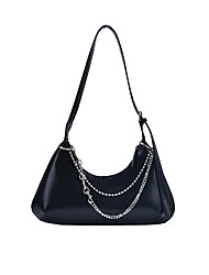 cheap -Women's Chain PU Leather Evening Bag Solid Color Black / Coffee