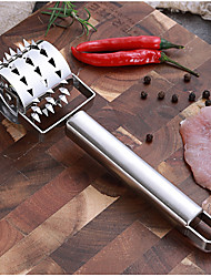cheap -Meat Hammer Kitchen Tool Gadget Stainless Steel Rolling Tender Baking Puncture Wheel Needle Knife