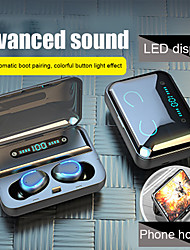 cheap -LITBest F9-5U TWS True Wireless Earbuds 2000mAh Power Bank Bluetooth 5.0 Stereo Sports Fitness Headphones Auto Paring Voice Assistant Touch Control LED Display Phone Holder Case