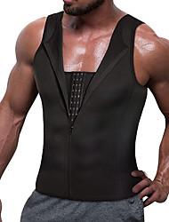 cheap -Hot Sweat Workout Tank Top Slimming Vest Sports Neoprene Home Workout Fitness Gym Workout Zipper Weight Loss Hot Sweat Fat Burning For Men Women