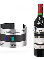 cheap -Bottle Wine Thermometer LCD Display Serving Party Checker Bracelet Shop Bar Kitchen Stainless Steel Tools