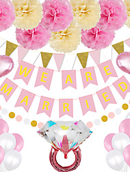 cheap -Party Balloons 17/29 pcs Bride To Be Bachelor Party Supplies Latex Balloons Banner Boys and Girls Party Wedding Decoration 12-18inch for Party Favors Supplies or Home Decoration