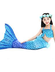 cheap -Kids Toddler Girls' Cute Mermaid Tail The Little Mermaid Print Drawstring Swimwear Blue
