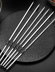 cheap -BBQ Kabob Skewers 6pcs for Grilling 12 Inch - BBQ Grill Grilling Accessories Stainless Steel