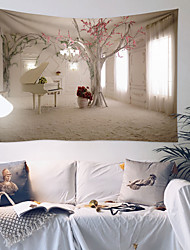cheap -Flower Tree Wall Hanging Room Landscape Tapestries Art Home Decoration Accessories