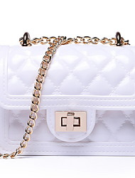 cheap -Women's Bags PU Leather Crossbody Bag Chain for Daily Wine / White / Black / Blue / Yellow / Almond / Blushing Pink / Dusty Rose / Light Green