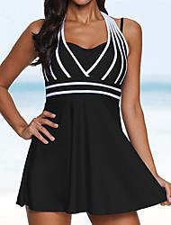 cheap -Womens Halter Swimdress Two Piece Swimsuit / One Piece