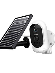 cheap -ESCAM G12 1080P Full HD Solar Camera 2 mp Wireless 6000mAH  Battery Outdoor Rechargeable Solar Panel PIR Alarm WiFi Camera Two-Way Audio IP65 Day Night Vision Security Camera