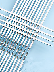 cheap -100pcs Barbecue Stick BBQ Skewers Kabob Circle Needle Picnic Equipment