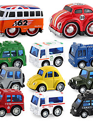 cheap -Construction Truck Toys Rail Car Toy Mini Classic Car SUV Bus Simulation Music & Light Alloy Mini Car Vehicles Toys for Party Favor or Kids Birthday Gift 9 pcs / Kid's