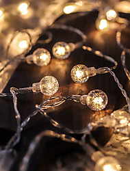 cheap -5M 50LED Crystal Ball Bulb Ball Lights LED String Lights Outdoor String Lights Battery Powered Fairy Light Waterproof Outdoor Garden Christmas Wedding Party Courtyard Decoration Lamp Without Battery