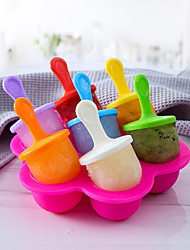 cheap -1 PCS /2PCS /3 PCS Ice Cream Ice Pops Mold Portable Food Grade Popsicle Mould Ball Maker Baby DIY Food Supplement Tools Fruit Shake Accessories Full Body Silicone