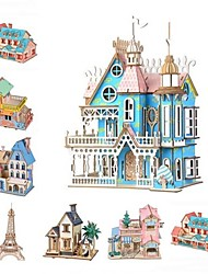 cheap -3D Puzzle Jigsaw Puzzle Educational Toy Famous buildings House DIY Wooden Classic Kid's Adults' Unisex Boys' Girls' Toy Gift