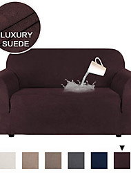 cheap -Stretch Suede Sofa Covers for 1-4 Cushion Couch Covers Sofa Slipcovers with Non Slip Straps Underneath The Furniture,Water Proof Feature Soft Spandex Fabri