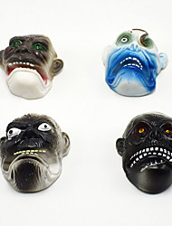cheap -Halloween Party Toys Finger Puppets 4 pcs Thrilling Ghost Face Vinyl Kids Trick or Treat Halloween Party Favors Supplies