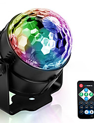 cheap -Holiday Lights 3 Control Modes RGB LED Stage Lights Party Effect Disco Ball Lights KTV Bar Wedding Party Christmas Decoration Lamp US / EU Plug Optional