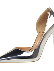 cheap -Women's Heels Stiletto Heel Pointed Toe Daily PU Solid Colored Summer Black Champagne Gold / 3-4