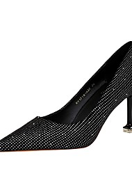 cheap -Women's Heels Summer Pumps Pointed Toe Daily Solid Colored PU Black